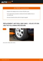 PDF replacement tutorial: Sway bar links VOLVO V70 II (285) rear and front