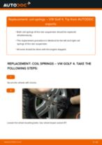 How to change rear coil springs on VW Golf 4 – replacement guide