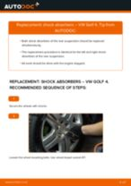 How to change rear shock absorbers on VW Golf 4 – replacement guide
