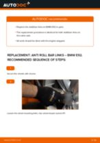How to change front anti roll bar links on BMW E92 – replacement guide