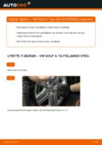 Montering Spiralfjädrar VW GOLF IV (1J1) - steg-för-steg-guide
