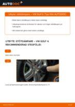 Byta Väghållning VW GOLF: gratis pdf