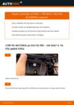 Byta motorolja och filter på VW Golf 4 – utbytesguide