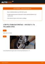 Byta stabilisatorstag fram på VW Golf 4 – utbytesguide