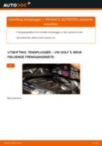Bytte Tennplugg VW gjør-det-selv - manualer pdf på nett