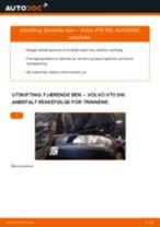 PDF med trinn for trinn-veiledning for bytte av VOLVO V70 II (SW) Støtdemper