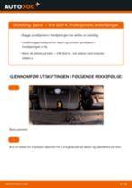 Skifte Støtdemper VW GOLF: verkstedhåndbok