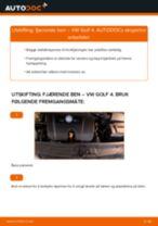 Skifte Fjærbein VW GOLF: gratis pdf