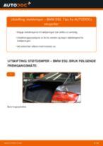 Slik bytter du støtdemper bak på en BMW E92 – veiledning