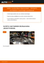 Kuinka vaihtaa moottoriöljy ja öljynsuodatin VW Golf 5-autoon – vaihto-ohje