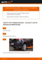Kuinka vaihtaa polttoainesuodatin VW Golf 5-autoon – vaihto-ohje