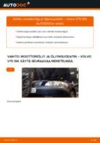 Kuinka vaihtaa moottoriöljy ja öljynsuodatin Volvo V70 SW-autoon – vaihto-ohje
