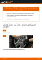 VW GOLF IV (1J1) Kierrejousi asennus - vaihe vaiheelta korjausohjeet