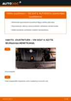 VW GOLF Iskunvaimentimet vaihto: ohjekirja