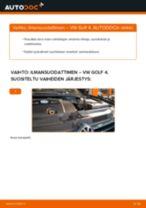 Kuinka vaihtaa ilmansuodattimen VW Golf 4-autoon – vaihto-ohje