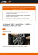 Montaż Sprężyna zawieszenia VW GOLF IV (1J1) - przewodnik krok po kroku