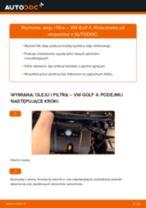 Jak wymienić oleju silnikowego i filtra w VW Golf 4 - poradnik naprawy