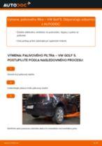 Výmena Palivový filter VW GOLF: dielenská príručka