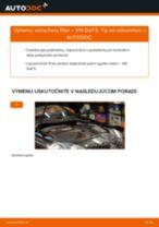 Kedy meniť Vzduchový filter VW GOLF V (1K1): pdf príručka