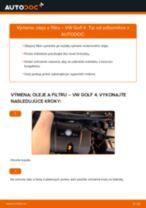 Ako vymeniť motorové oleje a filtre na VW Golf 4 – návod na výmenu