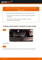 Vymeniť Pružina VW GOLF: zadarmo pdf