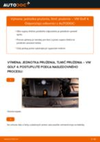 Montáž Tlmiče perovania VW GOLF IV (1J1) - krok za krokom príručky