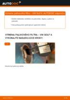 Ako vymeniť a regulovať Palivový filter VW GOLF: sprievodca pdf