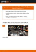 Jak vyměnit motorový olej a olejový filtr na VW Golf 5 – návod k výměně