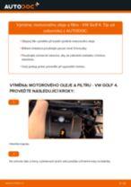 Jak vyměnit motorový olej a olejový filtr na VW Golf 4 – návod k výměně