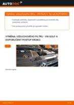 Jak vyměnit vzduchový filtr na VW Golf 4 – návod k výměně