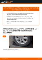 Πώς αλλαγη και ρυθμιζω Ελατήρια VW GOLF: οδηγός pdf