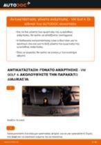 Αλλαγή Αμορτισέρ VW GOLF: εγχειριδιο χρησης