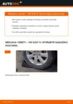 Kako zamenjati avtodel vzmeti zadaj na avtu VW Golf 5 – vodnik menjave