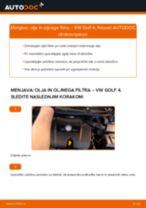 Kako zamenjati avtodel motorna olja in filter na avtu VW Golf 4 – vodnik menjave