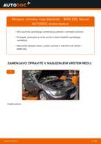Menjava zadaj Blazilnik BMW 3 Coupe (E92): vodič pdf