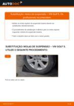 Como mudar molas de suspensão da parte traseira em VW Golf 5 - guia de substituição