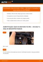 Como mudar óleo do motor e filtro em VW Golf 4 - guia de substituição