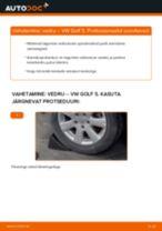 Paigaldus Vedrustus VW GOLF V (1K1) - samm-sammuline käsiraamatute