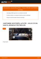 Kuidas vahetada Volvo V70 SW mootoriõli ja filtrit – õpetus