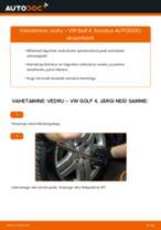 VW eesmine vasak parem Vedrustus vahetamine DIY - online käsiraamatute pdf