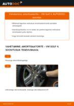 VW GOLF Amort vahetus: tasuta pdf
