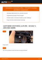MANN-FILTER HU 727/1 x eest Golf IV Hatchback (1J1)   PDF asendamise õpetused