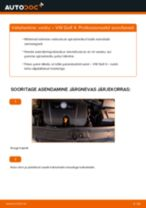 Asendamine Vedrustus VW GOLF: käsiraamatute