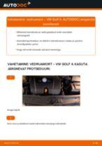 Paigaldus Amort VW GOLF IV (1J1) - samm-sammuline käsiraamatute