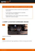 Hogyan cseréje és állítsuk be Spirálrugó VW GOLF: pdf útmutató