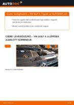 Levegőszűrő-csere VW Golf 4 gépkocsin – Útmutató