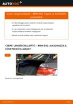 Cseréljünk Lengéscsillapító BMW 3 SERIES: felhasználói kézikönyv