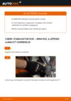 Hogyan cseréje és állítsuk be Stabilizátor összekötő BMW 3 SERIES: pdf útmutató