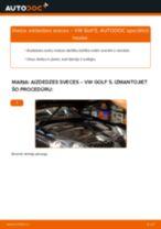 Tiešsaistes bezmaksas instrukcijas kā mainīties Kronšteins, Stabilizatora bukse VW GOLF V (1K1)