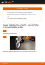 Kā nomainīt aizmugurē kreisais Savienotājstienis VOLVO V70 II (SW) - instrukcijas tiešsaistes